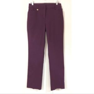 JM Collection NWT Size 6 Dress Pants Purple Slim